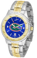 Florida Gators Competitor 2-Tone 23k Gold AnoChrome Stainless Steel Watch - Blue Dial (Men's or Women's)