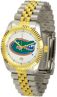 Florida Gators Executive  2-Tone 23k Gold Stainless Steel Watch - White Dial (Men's or Women's)