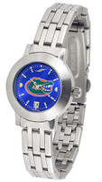Florida Gators Ladies Silver Stainless Steel Dynasty AnoChrome - Blue Dial