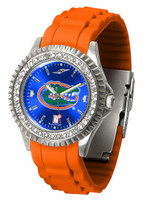 Florida Gators Sparkle AnoChrome Sport  Watch - Red Silicone Band