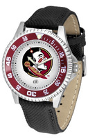 Florida State Seminoles Competitor Leather Watch White Dial (Men's or Women's)