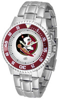 Florida State Seminoles Competitor Stainless Steel Watch - White Dial (Men's or Women's)