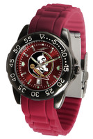 Florida State Seminoles Fantom AC™ Gunmetal Sport AnoChrome Watch - Red Silicone Band