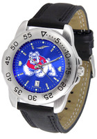 Fresno State Bulldogs Sport Leather AnoChrome Watch Color Dial (Men's or Women's)