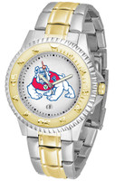 Fresno State Bulldogs Competitor 2-Tone 23k Gold Stainless Steel Watch - White Dial (Men's or Women's)