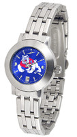 Fresno State Bulldogs Ladies Silver Stainless Steel Dynasty AnoChrome - Color Dial
