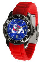Fresno State Bulldogs Fantom AC™ Gunmetal Sport AnoChrome Watch - Red Silicone Band