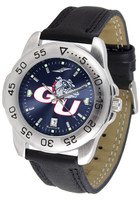 Gonzaga Bulldogs Sport Leather AnoChrome Watch Blue Dial (Men's or Women's)
