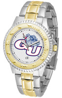Gonzaga Bulldogs Competitor 2-Tone 23k Gold Stainless Steel Watch - White Dial (Men's or Women's)