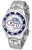 Gonzaga Bulldogs Competitor Stainless Steel Watch - White Dial (Men's or Women's)