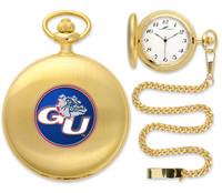 Gonzaga Bulldogs Gold Pocket Watch w/Chain