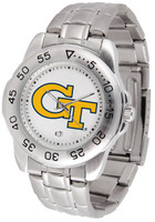Georgia Tech Yellow Jackets Sport Stainless Steel Watch White Dial (Men's or Women's)