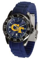 Georgia Tech Yellow Jackets Fantom AC™ Gunmetal Sport AnoChrome Watch - Red Silicone Band