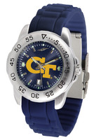 Georgia Tech Yellow Jackets Sport AC™AnoChrome Watch - Red Silicone Band