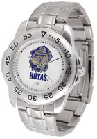 Georgetown Hoyas Sport Stainless Steel Watch White Dial (Men's or Women's)