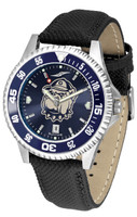 Georgetown Hoyas Competitor Leather AnoChrome Leather Watch - Red Dial w/Colored Bezel (Men's or Women's)