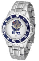 Georgetown Hoyas Competitor Stainless Steel Watch - White Dial (Men's or Women's)