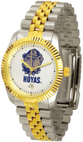 Georgetown Hoyas Executive  2-Tone 23k Gold Stainless Steel Watch - White Dial (Men's or Women's)