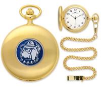 Georgetown Hoyas Gold Pocket Watch w/Chain