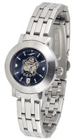 Georgetown Hoyas Ladies Silver Stainless Steel Dynasty AnoChrome - White Red Dial