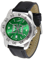 Hawaii Warriors Sport Leather AnoChrome Watch Red Dial (Men's or Women's)