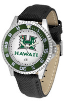 Hawaii Warriors Competitor Leather Watch White Dial (Men's or Women's)
