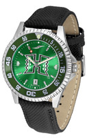 Hawaii Warriors Competitor Leather AnoChrome Leather Watch - Red Dial w/Colored Bezel (Men's or Women's)