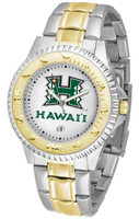 Hawaii Warriors Competitor 2-Tone 23k Gold Stainless Steel Watch - White Dial (Men's or Women's)