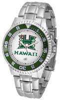 Hawaii Warriors Competitor Stainless Steel Watch - White Dial (Men's or Women's)