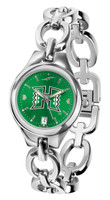 Hawaii Warriors Ladies Silver Eclipse Link AnoChrome Watch - Red Dial