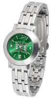 Hawaii Warriors Ladies Silver Stainless Steel Dynasty AnoChrome - White Red Dial