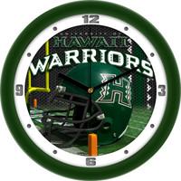 Hawaii Warriors 12 Inch Round Wall Clock