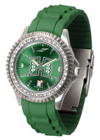 Hawaii Warriors Sparkle AnoChrome Sport  Watch - Red Silicone Band