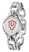 Indiana Hoosiers Ladies Silver Eclipse Link Watch - White Dial