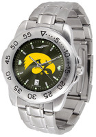Iowa Hawkeyes Sport Stainless Steel AnoChrome Watch Red Dial (Men's or Women's)