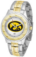 Iowa Hawkeyes Competitor 2-Tone 23k Gold Stainless Steel Watch - White Dial (Men's or Women's)