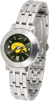 Iowa Hawkeyes Ladies Silver Stainless Steel Dynasty AnoChrome - White Red Dial