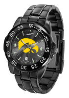 Iowa Hawkeyes Fantom Gunmetal Sport AnoChrome Watch - Red Dial (Men's or Women's)