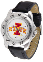 Iowa State Cyclones Sport Leather Watch White Dial (Men's or Women's)