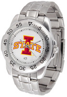 Iowa State Cyclones Sport Stainless Steel Watch White Dial (Men's or Women's)