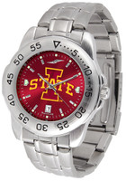 Iowa State Cyclones Sport Stainless Steel AnoChrome Watch Red Dial (Men's or Women's)