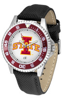 Iowa State Cyclones Competitor Leather Watch White Dial (Men's or Women's)