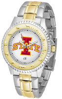 Iowa State Cyclones Competitor 2-Tone 23k Gold Stainless Steel Watch - White Dial (Men's or Women's)