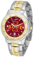 Iowa State Cyclones Competitor 2-Tone 23k Gold AnoChrome Stainless Steel Watch - Red Dial (Men's or Women's)