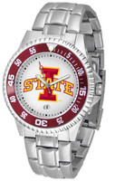 Iowa State Cyclones Competitor Stainless Steel Watch - White Dial (Men's or Women's)