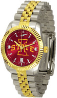 Iowa State Cyclones Executive  2-Tone 23k Gold AnoChrome Stainless Steel Watch - Red Dial (Men's or Women's)