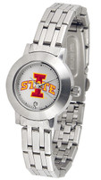 Iowa State Cyclones Ladies Silver Stainless Steel Dynasty Watch - White Dial