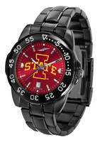 Iowa State Cyclones Fantom Gunmetal Sport AnoChrome Watch - Red Dial (Men's or Women's)