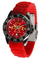 Iowa State Cyclones Fantom AC™ Gunmetal Sport AnoChrome Watch - Red Silicone Band