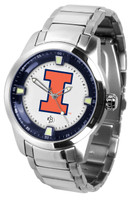 Illinois Fighting Illini  Titan Stainless Steel Watch